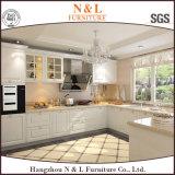 N & L gabinetes de cozinha modulares do armário da madeira contínua