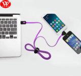 cable de datos del USB 2in1 del 1.5m con el LED
