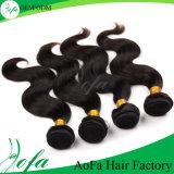 7A等級100%の加工されていないペルーのバージンの人間の毛髪の拡張