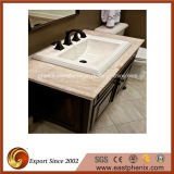 Polonês branco/preto/granito/mármore/Onyx/quartzo cinzentos/bege/cristalizou o dissipador de pedra da lavagem para o banheiro/cozinha/hotel