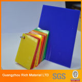 Tarjeta de acrílico plástica de la hoja PMMA de la hoja de cristal de Orangic