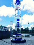 De Fabriek 18inch 55 van China Pijpen van het Glas van Percolatar van de Paraplu van de Kleur van de Pijpen van het Water van het Glas van de Rol van de Diameter 5thickness de Spiraalvormige Rokende Hand Geblazen met Koepel