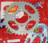 Motorrad Parts Motorcycle Front und Rear Sprockets Set Suzuki Ax100