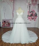 Vestido de casamento Strapless da sereia das mulheres