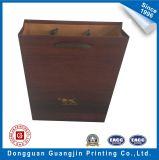 Saco de compra de madeira do papel de embalagem de Brown da textura da alta qualidade feita sob encomenda