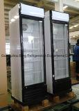 Refrigerador de vidro do anúncio publicitário da porta