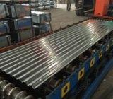 O material galvanizou chapas de aço onduladas/bobina
