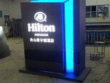 Signe de totem de canalisation verticale d'annuaire d'hôtel