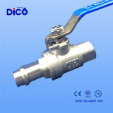 세륨 Cartridge Connection Full Bore CF8 2PC Ball Valve