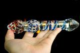 女性Injo-Dg035のための性のおもちゃのガラスDildo