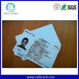 PVC пластмассы или бумажная карточка удостоверения личности момента времени с или без RFID