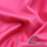 Agua y de la ropa de deportes tela rayada tejida chaqueta al aire libre Viento-Resistente 100% del poliester del telar jacquar de la piel del melocotón de la pongis abajo (53040)