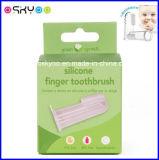 Toothbrush do dedo do silicone do baixo preço da fonte da fábrica para o bebê