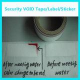 Collant/étiquette sensibles de l'eau