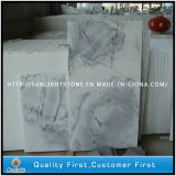 Chine Crystal White Wave Marble Kitchen Floor and Wall Tiles