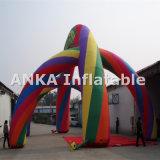 Arco grande inflable colorido del arco iris para hacer publicidad