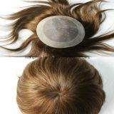 """Toupee europeu #4 de 10 """" Mens dos acessórios do cabelo de Remy"""