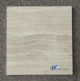 Azulejo de madera blanco natural Polished del mármol del grano