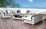 Im Freien Möbel-hoch Rückseiten-Rattan-Sofa-Set