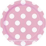 Colores calientes de la venta con las placas de papel disponibles blancas de los puntos de polca