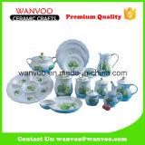 中国の陶磁器の装飾的なテーブルウェア一定のディナー・ウェアのコレクション