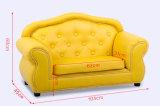Sofá amarillo del ocio hecho en China