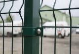 Cerca de segurança soldada galvanizada revestida PVC da estrada da cerca do engranzamento de fio
