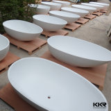 Kingkonree superficie sólida blanca bañera de piedra