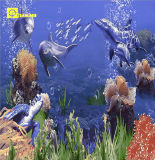 3D Ceramic Wall Tile in Sea