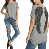 Summer Fashion Angel Wings T-shirt manches courtes décontractées