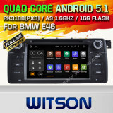 Carro DVD GPS do Android 5.1 de Witson para BMW E46 1998-2006 com sustentação do Internet DVR da ROM WiFi 3G do chipset 1080P 16g (A5766)