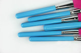 ファンブラシ様式のナイロンブラシの物質的で青いハンドルブラシ32部分の構成の