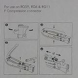 Outil à sertir de compression professionnelle de connecteur de F