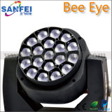 19*15W 크리 말 LED Zoom Beam Moving Head Bee Eye Lighting