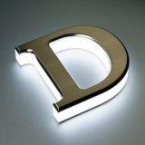 Lettere di alluminio spazzolate lucidate del metallo di Oxidated tagliate laser dell'acciaio inossidabile