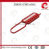 Hasp vermelho de nylon modificado do fechamento dos PP com cadeado da segurança levemente