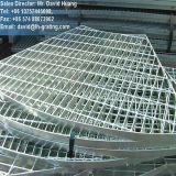 Reja galvanizada de la INMERSIÓN caliente para el suelo de acero y la cubierta de la reja del foso