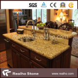 磨かれたBlackかBlue Pearl/Yellow/Beige/Green/Black Galaxy Granite Marble Countertop