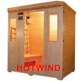 Sauna neuf de Hotwind de pièce de sauna d'infrarouge lointain du modèle 2016 pour 4 personnes (SEK-B4)