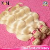 Cabelo louro brasileiro da cor #613 do mel do cabelo do Virgin louro macio e liso