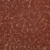 Azulejo de cerámica de la porcelana del suelo del azulejo Polished de Pulati del color oscuro para la decoración casera que bordea el azulejo 600*600 rojo marrón negro