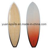 debout paddle board avec une surface de placage de bambou , planche de surf personnalisée
