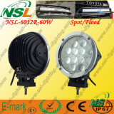 Multivoltage 10-80V DC Input 7 Inch 크리 말 60W 12LEDs Driving Light, High Quality를 가진 LED Work Light