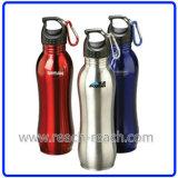 Gli sport imbottigliano, bottiglia di acqua dell'acciaio inossidabile (R-9015)
