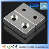 "Accept #8 Screws Magnet에 F2 "" X 1 "" X 1/2 "" 2 Countersunk Holes"