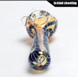 Cuchara de los tubos de tabaco de la nueva de la mano que fuma del tubo cachimba de cristal de la venta al por mayor