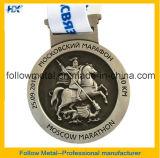 Medalha de prata antiga da maratona do revestimento da alta qualidade