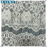 Lacet mou de tissu de mariage de lacet de cil de tissu de Spandex pour le vêtement nuptiale de Chantilly