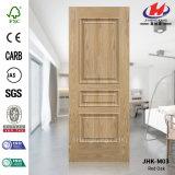 Piel moldeada 3315) HDF de la puerta de EV-Sapelli (