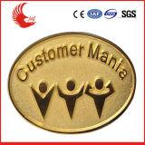Emblema chapeado da liga do zinco da venda direta da fábrica ouro barato